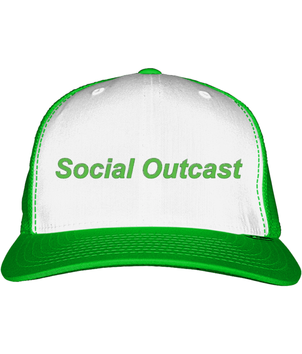 Lime Green and White Snap Back
